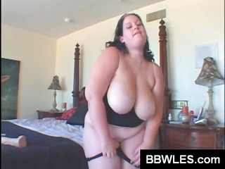 two fat lesbian bitches toy their overweight