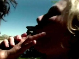 oriental lesbians eating holes outdoors
