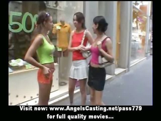 sporty young lesbos undressing and licking