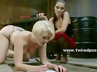 brutal mistress forces bitch to submit