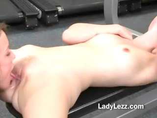 taut body lesbos deep muff licking in the gym