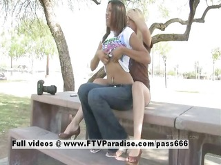 lilah delicate lesbians flashing outdoor
